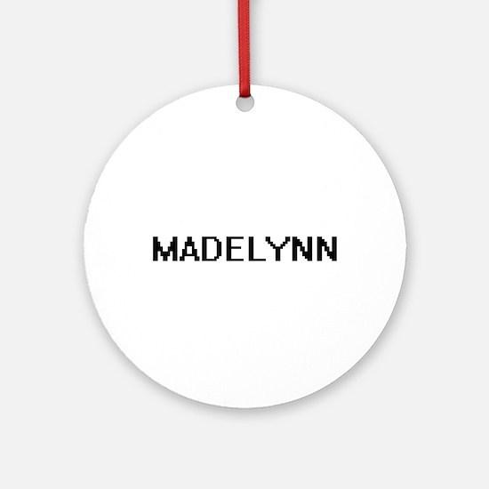 Madelynn Digital Name Ornament (Round)