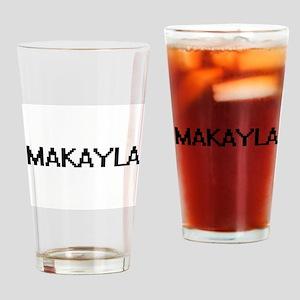 Makayla Digital Name Drinking Glass