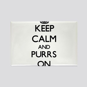 Keep Calm and Purrs ON Magnets