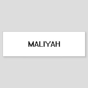 Maliyah Digital Name Bumper Sticker