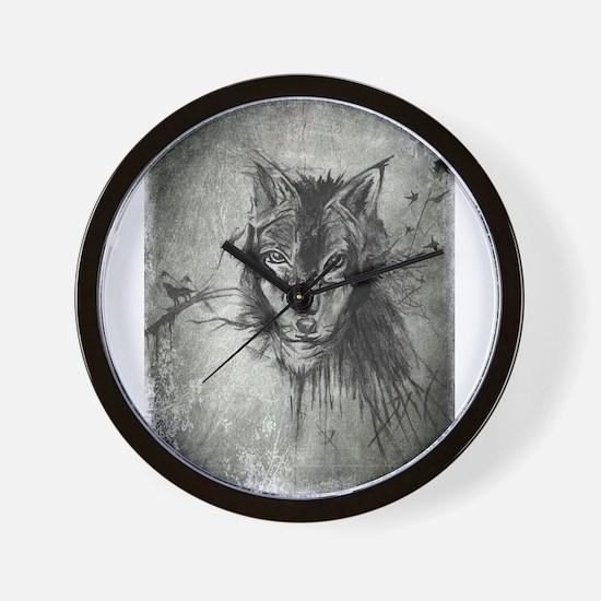 wolf Alpha Omega Wall Clock