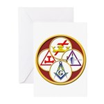 Circles of the York Rite Greeting Cards (Pk of 20