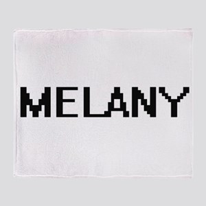 Melany Digital Name Throw Blanket