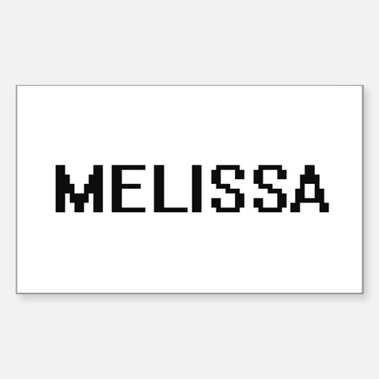Melissa Digital Name Decal