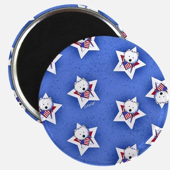 KiniArt US Westie Stars 2 Magnet