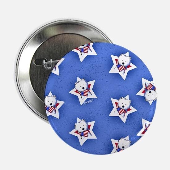 "KiniArt US Westie Stars 2 2.25"" Button"