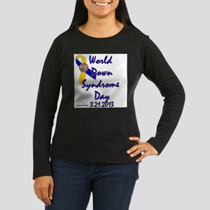 World Down Syndrome Day (Ribbon) Long Sleeve T-Shi