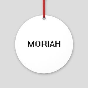 Moriah Digital Name Ornament (Round)
