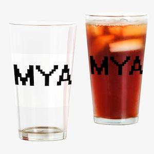 Mya Digital Name Drinking Glass