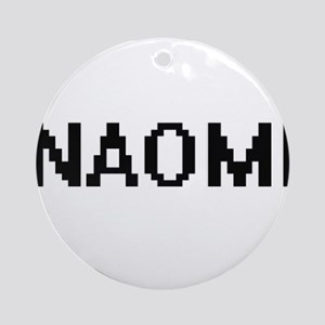 Naomi Digital Name Ornament (Round)