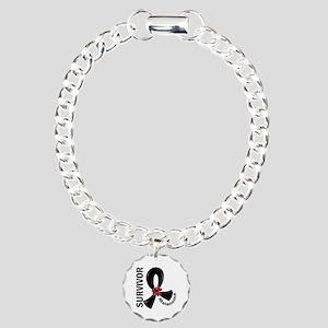 Melanoma Survivor 12 Charm Bracelet, One Charm