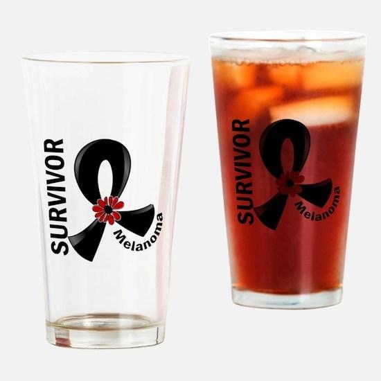 Melanoma Survivor 12 Drinking Glass