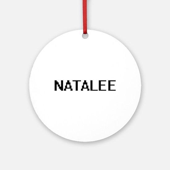 Natalee Digital Name Ornament (Round)