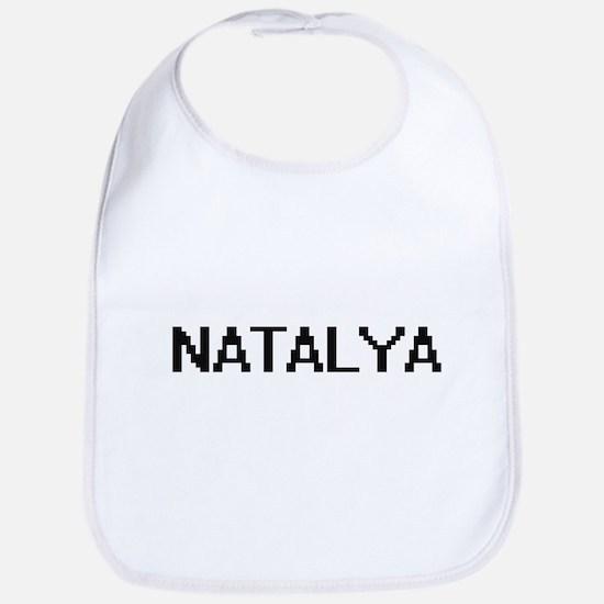 Natalya Digital Name Bib