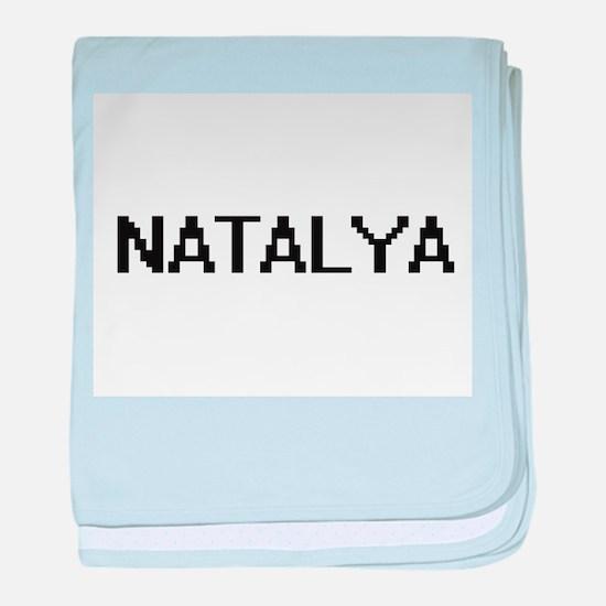 Natalya Digital Name baby blanket