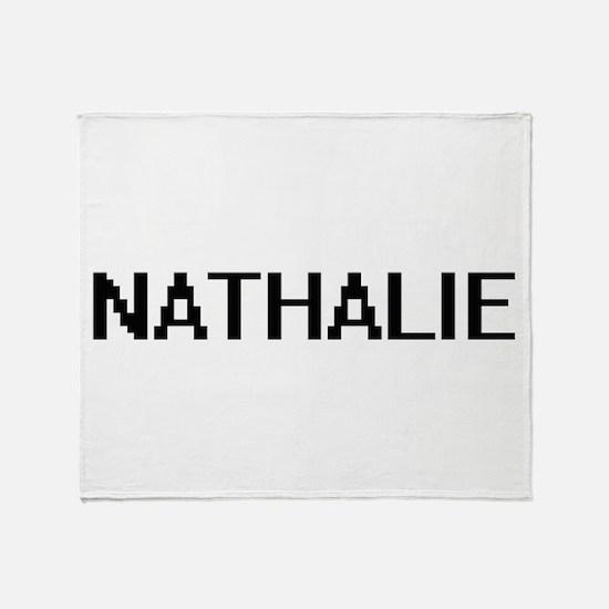 Nathalie Digital Name Throw Blanket