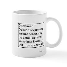 Opinions Disclaimer Mugs