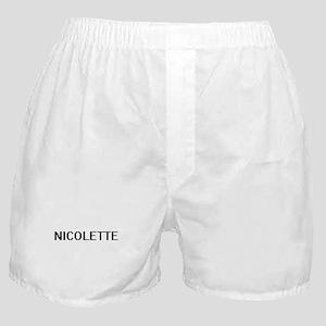 Nicolette Digital Name Boxer Shorts