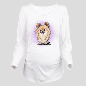 KiniArt Bella Pom Long Sleeve Maternity T-Shirt