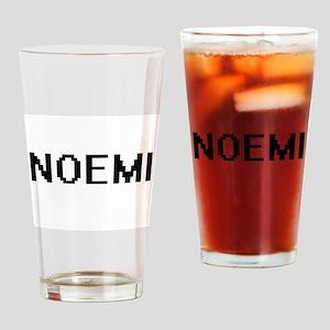 Noemi Digital Name Drinking Glass