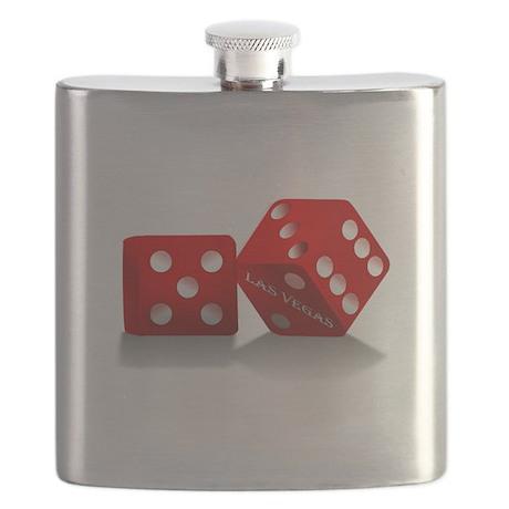 Las Vegas Red Dice Flask