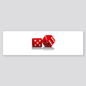 Las Vegas Red Dice Bumper Sticker