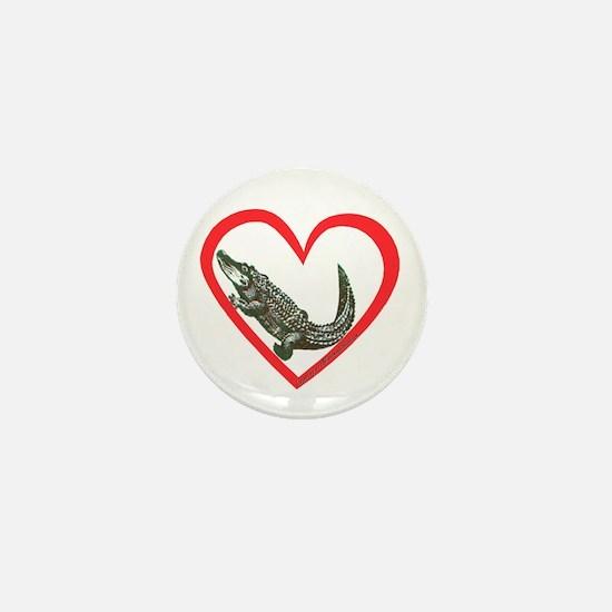 Alligator Heart Mini Button