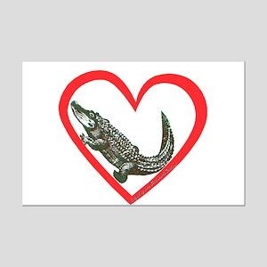 Alligator Heart Mini Poster Print
