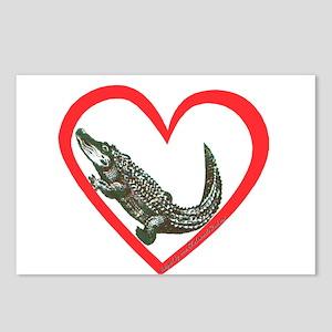 Alligator Heart Postcards (Package of 8)