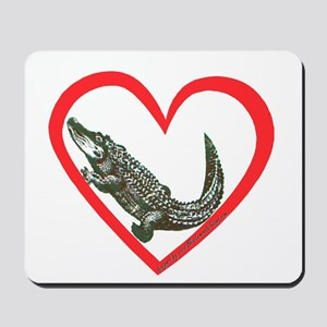 Alligator Heart Mousepad