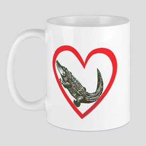 Alligator Heart Mug