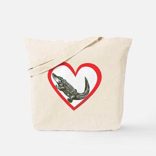 Alligator Heart Tote Bag