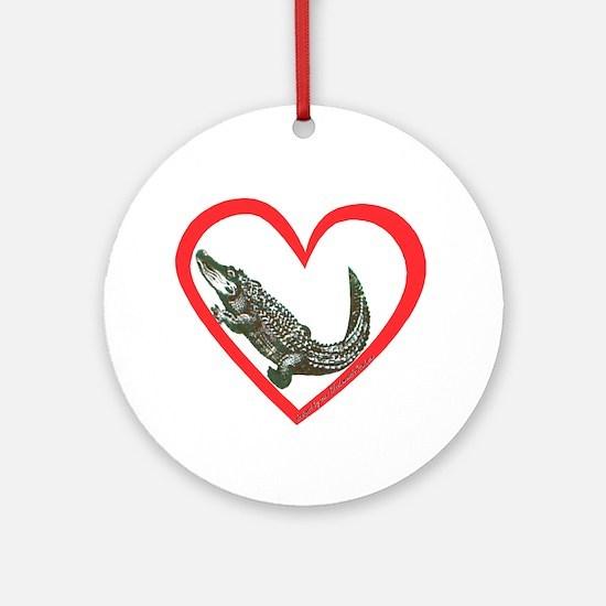 Alligator Heart Ornament (Round)