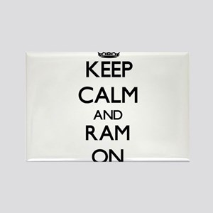 Keep Calm and Ram ON Magnets