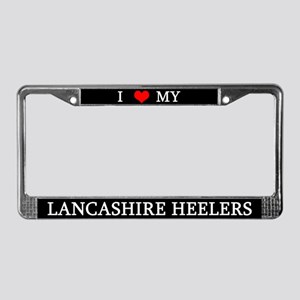 Love Lancashire Heelers License Plate Frame