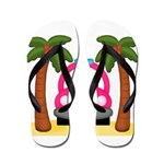 Surfing Girl Pink Car Beach Flip Flops