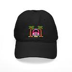 Surfing Girl Pink Car Beach Baseball Hat