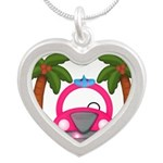 Surfing Girl Pink Car Beach Necklaces