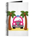 Surfing Girl Pink Car Beach Journal