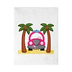 Surfing Girl Pink Car Beach Twin Duvet