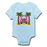 Surfing Girl Pink Car Beach Body Suit