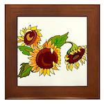 Sunflower Garden Framed Tile