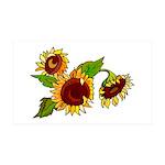 Sunflower Garden 35x21 Wall Decal