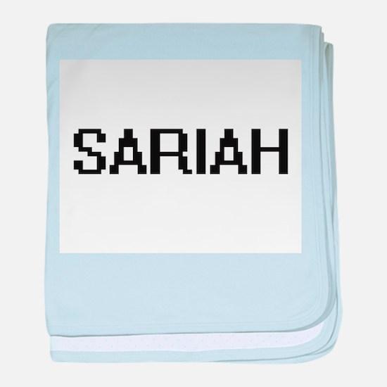 Sariah Digital Name baby blanket