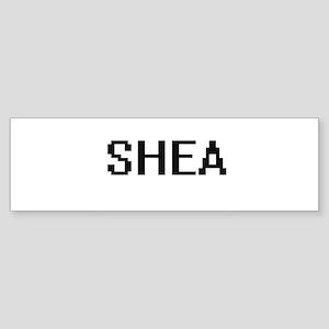 Shea Digital Name Bumper Sticker