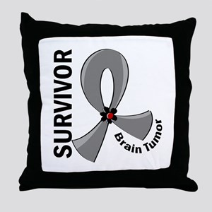 Brain Tumor Survivor 12 Throw Pillow
