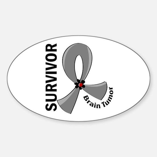 Brain Tumor Survivor 12 Sticker (Oval)