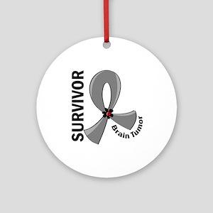 Brain Tumor Survivor 12 Ornament (Round)