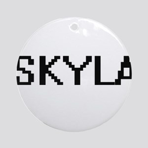 Skyla Digital Name Ornament (Round)