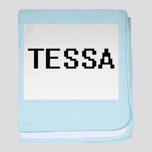 Tessa Digital Name baby blanket